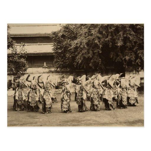 Veiled dancers at Mandalay, Burma Post Card