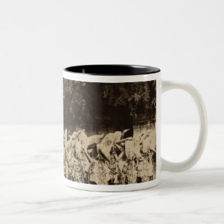 Veiled dancers at Mandalay, Burma Two-Tone Coffee Mug