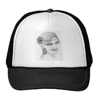 Veiled Deco Girl Trucker Hat
