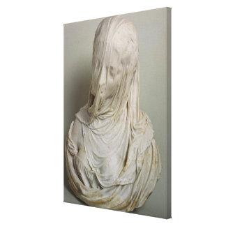 Veiled Girl (marble) Canvas Print