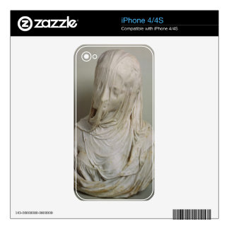 Veiled Girl (marble) iPhone 4 Decals