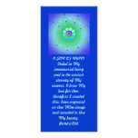 Veiled Hidden Word Quote Personalized Rack Card