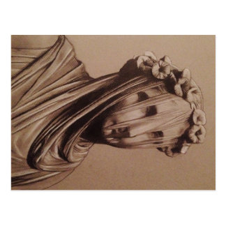 """Veiled lady  by Trent Valleau """"after bernini Postcard"""