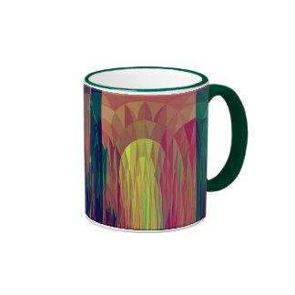 Veiled Lady In Archway Ringer Coffee Mug