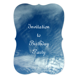Veils in the Sky 5x7 Paper Invitation Card