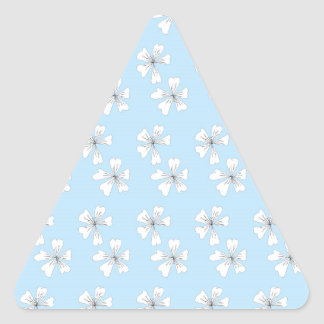 Vein flowers on blue triangle sticker