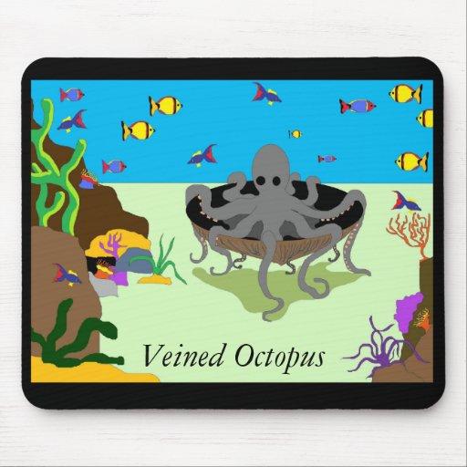 Veined octopus mousepad
