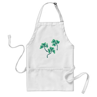 Veined Shamrock Middle Adult Apron