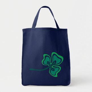 Veined Shamrock Middle Tote Bag