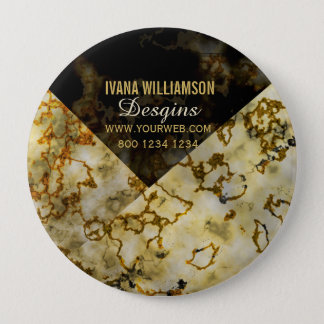 Veining Marbleized Cracked Gold Professional Button