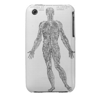 Veins and Arteries system (b/w print) iPhone 3 Case
