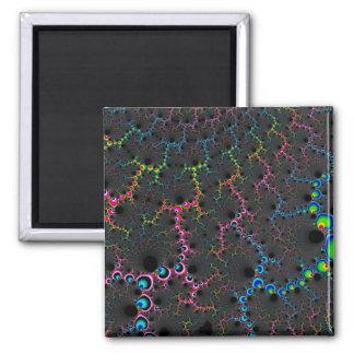 Veins - Fractal Art 2 Inch Square Magnet