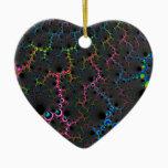 Veins - Fractal Art Ceramic Ornament