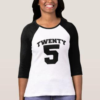 VEINTE camiseta del CUMPLEAÑOS de 5 jalones Poleras