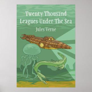 Veinte mil ligas debajo del Mar Jules Verne Póster