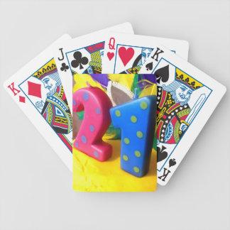 Veinte uno cartas de juego