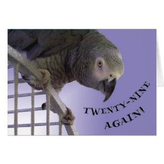 Veintinueve otra vez tarjeta de felicitación