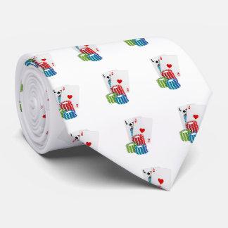 Veintiuna con las fichas de póker corbatas