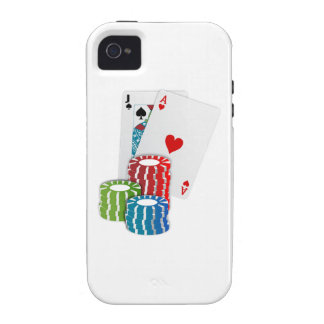 Veintiuna con las fichas de póker iPhone 4/4S fundas
