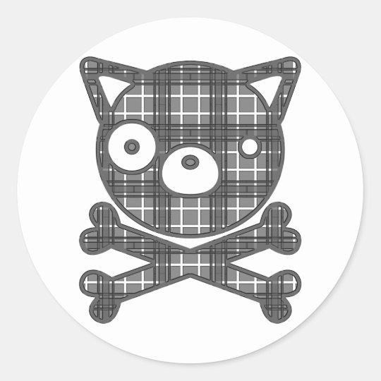 Veintiuna (perro) pegatina redonda