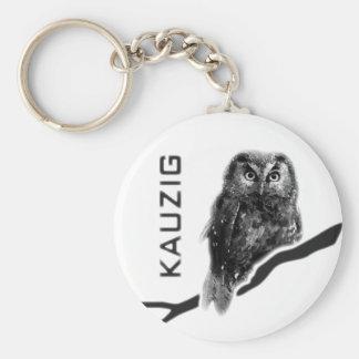 Vejete lechuza Uhu raro käuzchen owl bird Llavero Redondo Tipo Pin