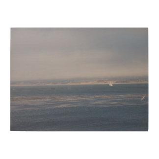 Vela a solas en la bahía de Monterey Cuadros De Madera
