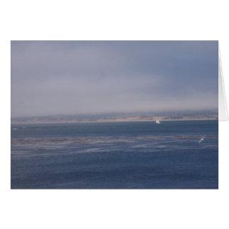 Vela a solas en la bahía Notecard de Monterey Tarjeta Pequeña