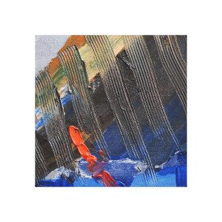 Vela abstracta lona envuelta para galerias