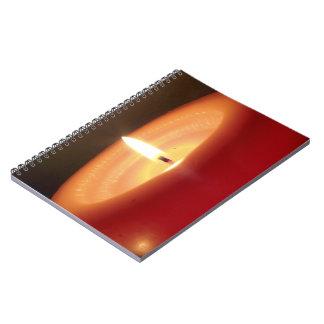 Vela anaranjada de relajación 2 libros de apuntes con espiral