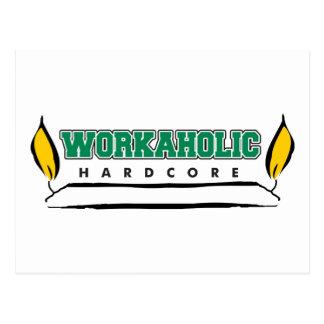 Vela ardiente del Workaholic en ambos extremos Tarjetas Postales