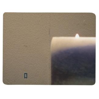 Vela azul de relajación 2 cuadernos