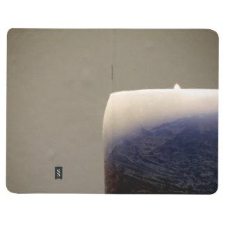 Vela azul de relajación 3 cuadernos