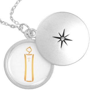 Vela cristiana moderna collar redondo