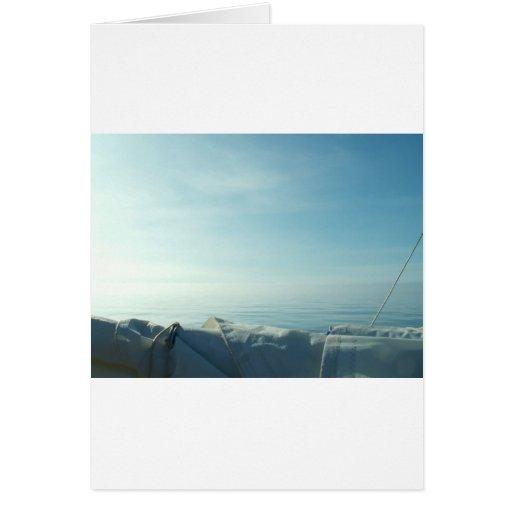 Vela cuidadosamente formada escamas tarjeta de felicitación