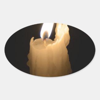 Vela de fusión pegatina ovalada