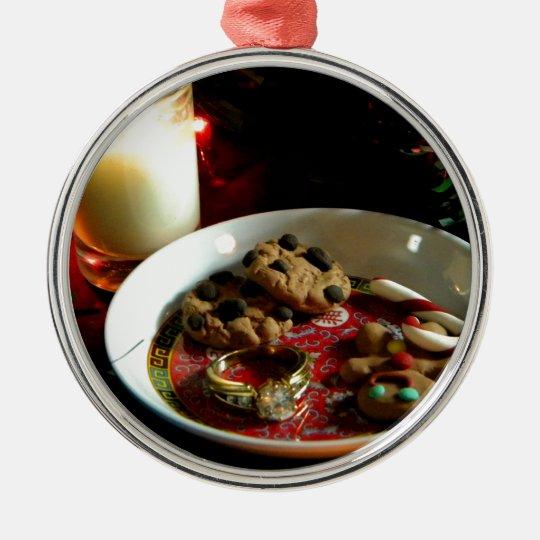 Vela de la galleta del navidad adorno navideño redondo de metal
