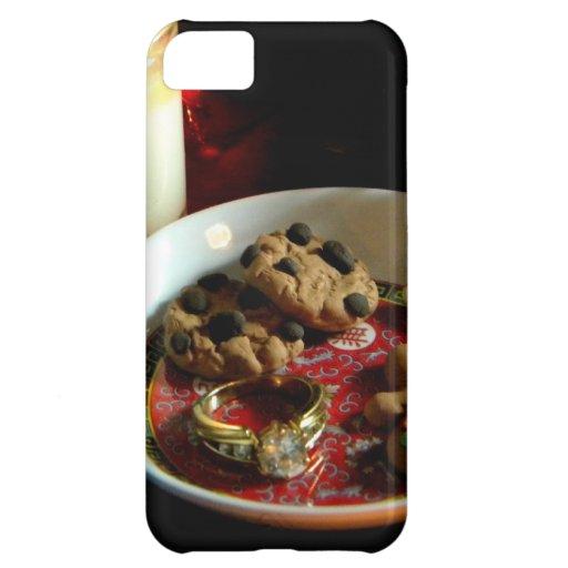 Vela de la galleta del navidad carcasa iPhone 5C