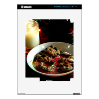 Vela de la galleta del navidad iPad 3 pegatinas skins