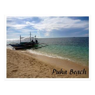 vela de la playa del puka tarjeta postal