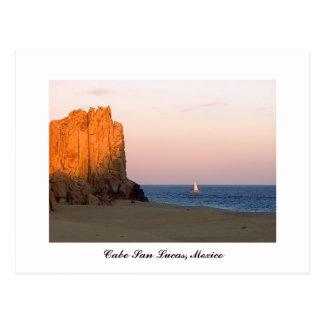 Vela de la puesta del sol Cabo San Lucas México Postales