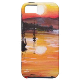 Vela de la puesta del sol iPhone 5 Case-Mate fundas