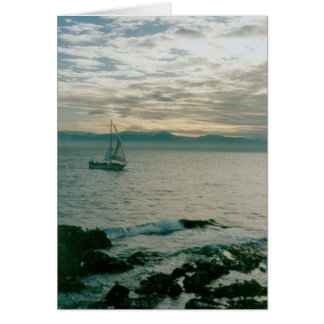Vela de la tarde del invierno en la Costa del Pací Tarjeta De Felicitación