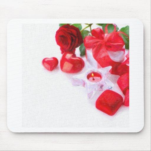 vela de la tarjeta del día de San Valentín Tapete De Raton