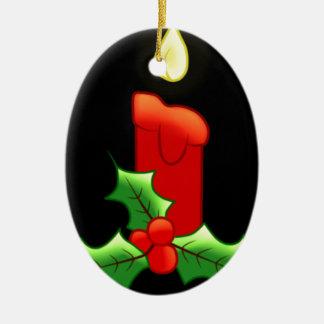 Vela de Lite con acebo Ornamentos De Navidad