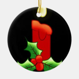 Vela de Lite con acebo Adorno De Reyes