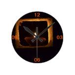 Vela del aceite en ventana reloj