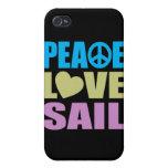Vela del amor de la paz iPhone 4 protector
