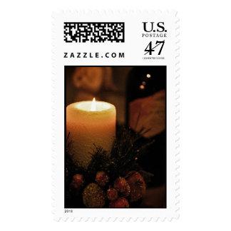 Vela del día de fiesta sello postal