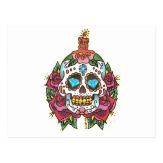 Vela del diamante del cráneo subió por Tyler 2008 Tarjetas Postales