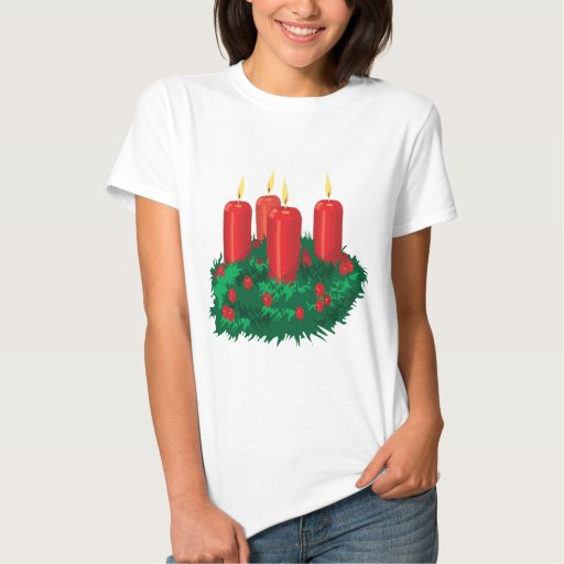 Vela del navidad camiseta
